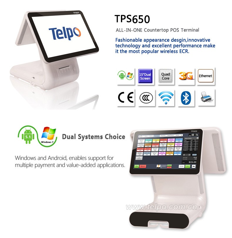 Telpo Tps650 High Resolution Window Or Android System Electronic ...