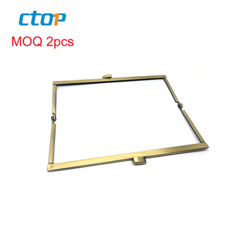 2019 guangzhou hardware popular fashion beautiful square light gold coin purse frame box clutch frame clutch bag frames