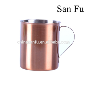 High quality moscow mule solid copper stainless steel coffee mug