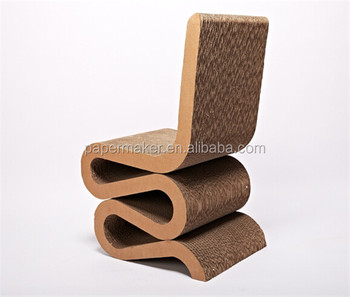 Corrugated Cardboard Chair S Shape Reline Chair
