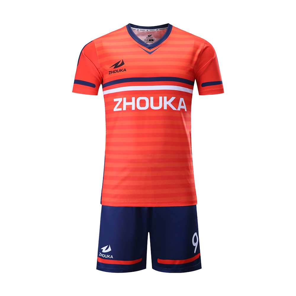 3366ea6f5a8 wholesale fully sublimation customize blue orange soccer jersey custom  football shirt printing soccer jersey in thailand