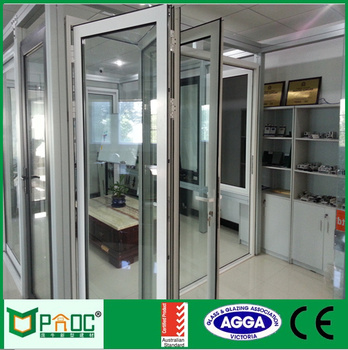 Powder Coated Bi Fold Glass Doors Exterior With Safety Glass