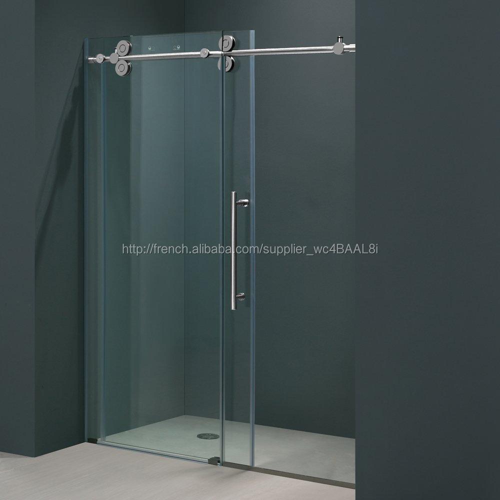 nettoyage salle de bains de douche coulissante portes sans cadre verre portes de douche avec - Porte De Douche Coulissante Pas Cher