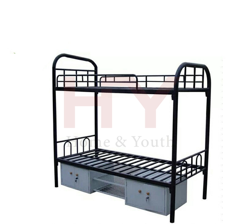 Military Metal Bunk Bed With Storage Box Buy Metal Bunk Bed With
