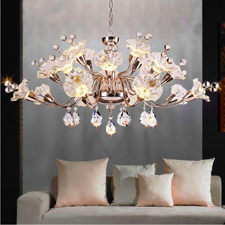 Crystal Glass Flower Chandelier Buy Flower Chandelier