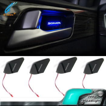 car interior ambient light cup holder light led car door handle lights for hyundai sonata lf 9. Black Bedroom Furniture Sets. Home Design Ideas