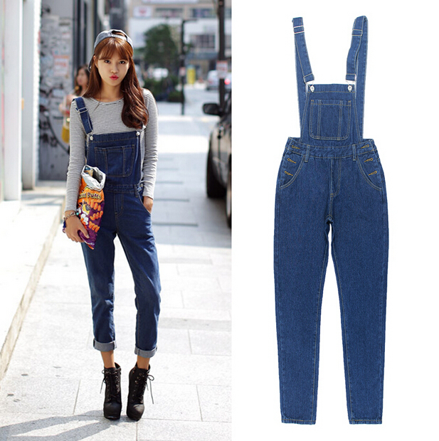 42dd82bb416 Get Quotations · 2015 New Women Jumpsuit Denim Overalls Hot Female Denim Pants  Jeans Overall Fashion Rompers Plus Size
