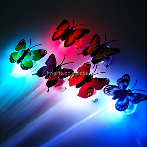 Colored butterfly shaped cheap girl party favor event led hair clip