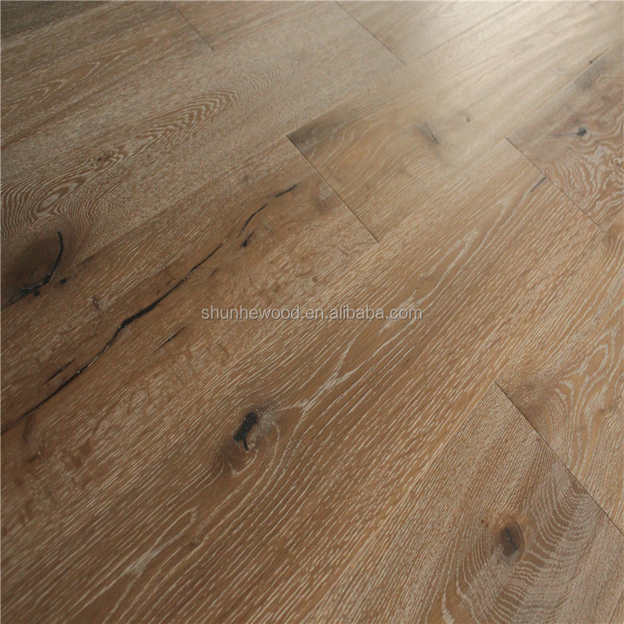 1900*190*15/4mm Hand Scraped Knots Raised Aged Oil European Oak Timber Engineered Oak Wood Flooring