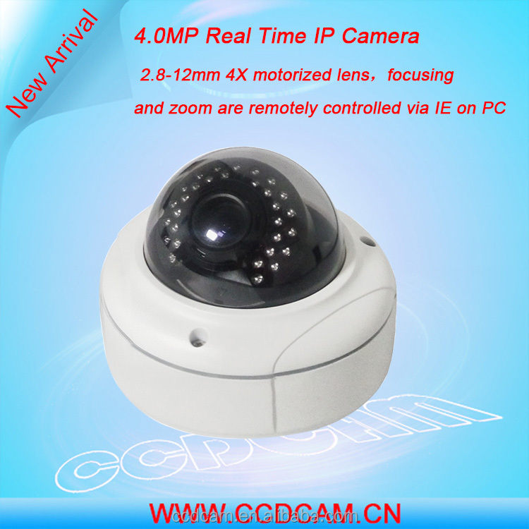 System Security 4 Megapixel IP CCTV Camera CCD Sensor Zoom IP Camera Dome