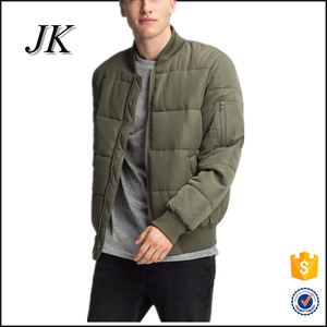5c958bb8e mens quilted paded softshell peach skin slim fit zipper up bomber jacket