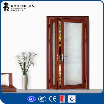 Rogenilan 45 Series Wood Color Front Door Design Aluminum One And Half