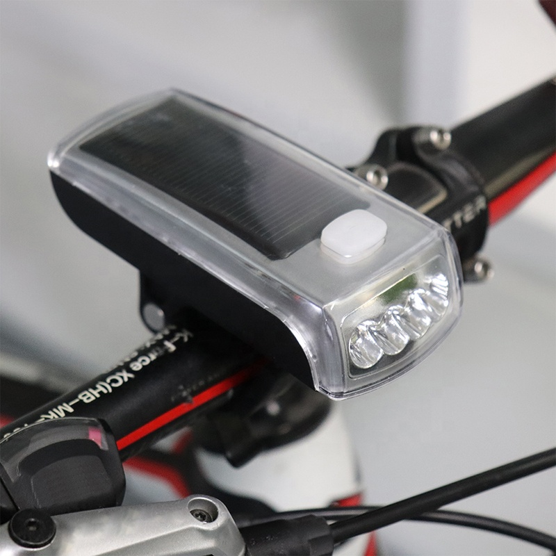 Bike Accessories Mountain Bicycle Lamp Usb Charge Solar LED Bike Light Rechargeable