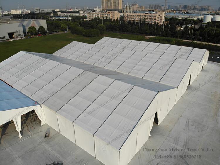 Tenda de armazém de parede de lona à prova de vento resistente