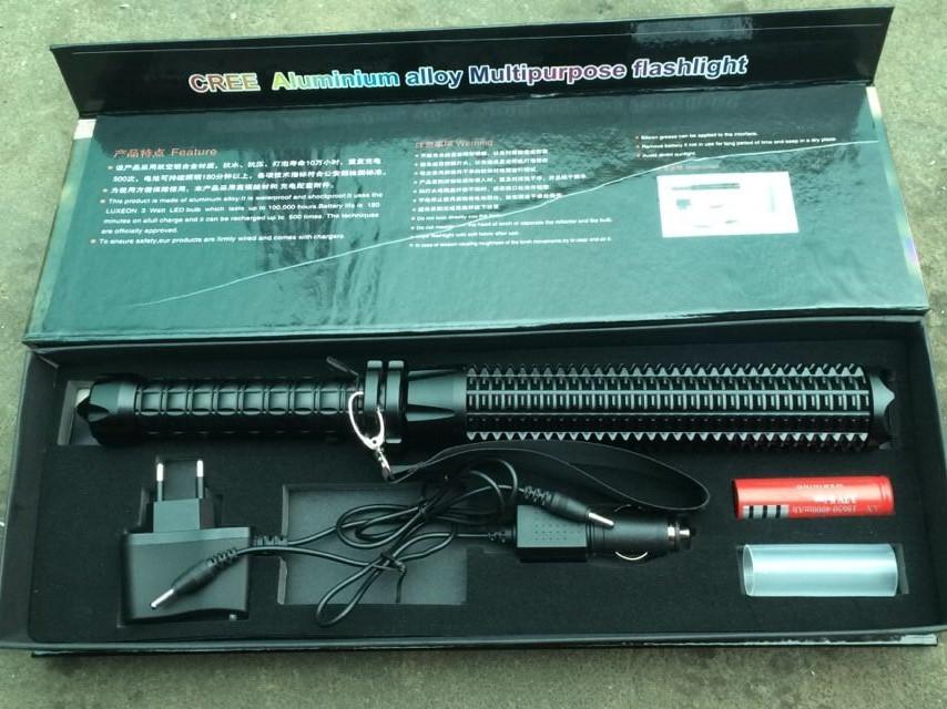 Bx8098 teleskopschlagstock hartanodisieren aluminiumlegierung cree
