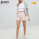 Wholesale Womens High Rise Pink Denim Shorts