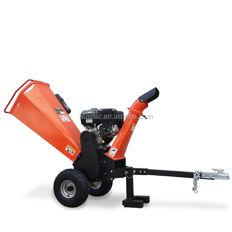 Towable Tree Care 15 HP Wood Chipping Machine with Gasoline Engine