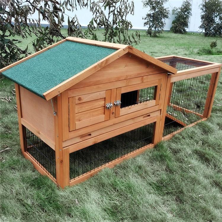 F cil limpieza conejo casa de madera jaulas para mascotas - Casa conejo ...