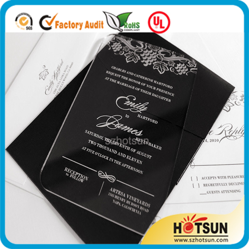acrylic wedding invitations 2016 new style clear acrylic laser cut wedding invitations 1208