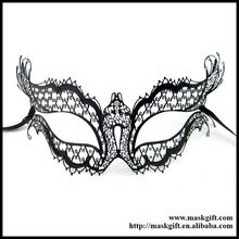 Marvelous~Wholesale MB004 Fashion Italian Black Laser Cut Metal Masquerade Mask With Full Rhinestones, Party Supplier