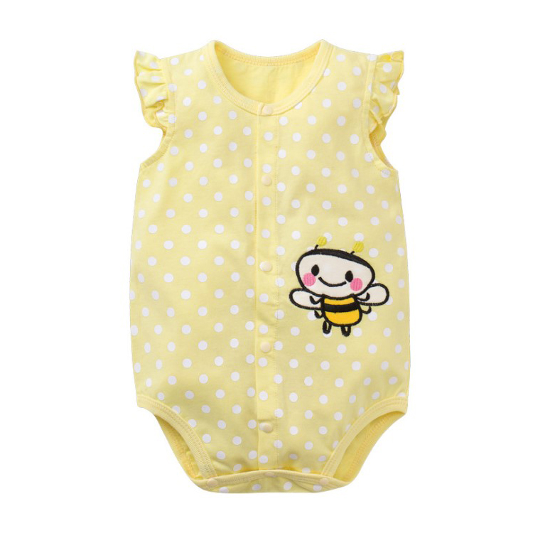 Soft And Comfortable Baby Items Overalls For Children Baby Rompers Zipped Summer Short Sleeve Rompers
