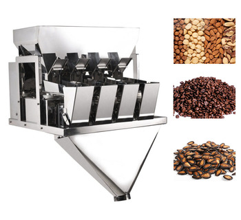 Low price for small business coffee powder , granular weigher 4 heads linear weigher machine
