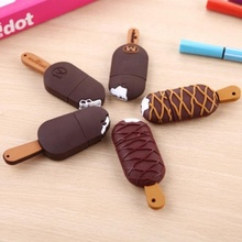 Cartoon popsicle 8 GB 16 GB silicone U Bastone 32 GB ice cream 64 GB 4 GB a buon mercato Pendrive <span class=keywords><strong>Flash</strong></span> drive Regalo