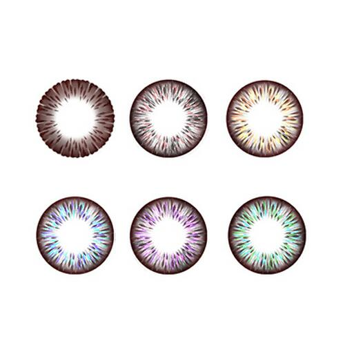 Cute Baby Big Eye 3-tone Colored contacts yearly disposable circle lenses on sale
