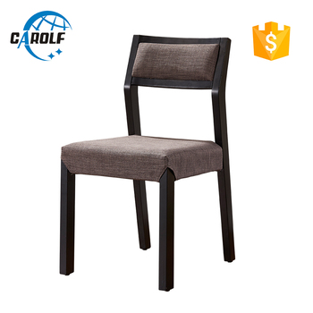 american style fabric wood dining chairs