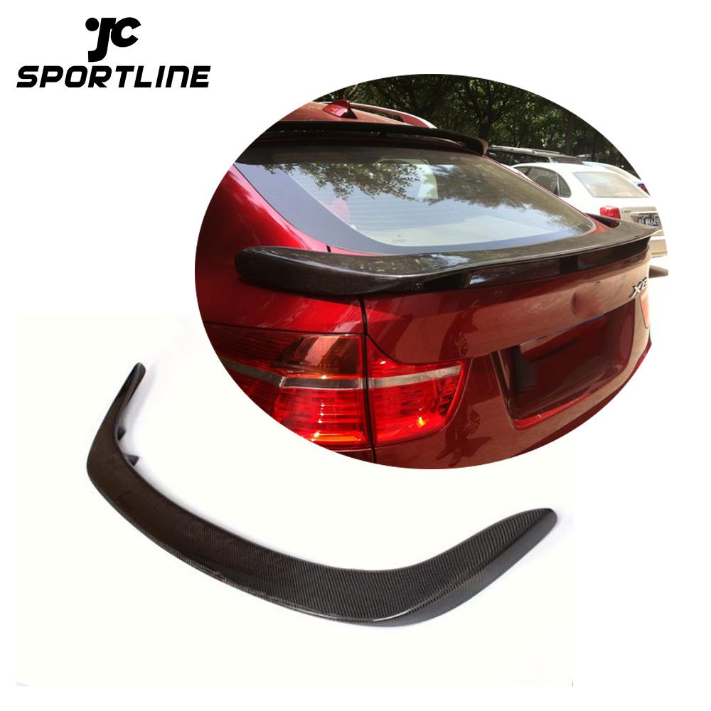 Rear Trunk Spoiler Lid Wing For BMW X6 F16 15-16 Carbon Fiber Factory Refit
