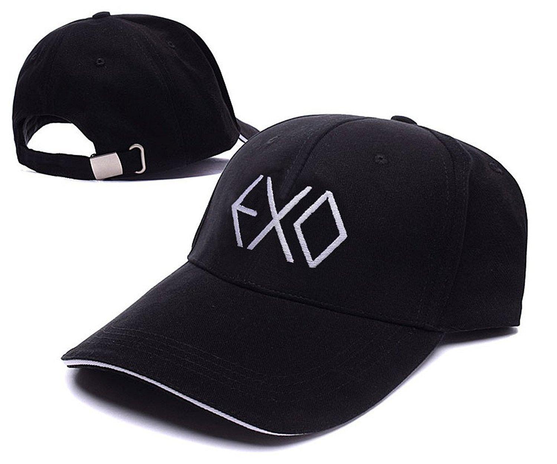 3ba73a8a0d05 Get Quotations · AEFYHA Kpop EXO Logo Adjustable Baseball Caps Unisex  Snapback Embroidery Hats