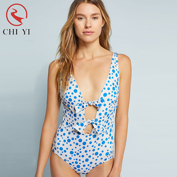 52fc7a72169a1 popular fabric sexy women one piece swimsuit polka dot fashion custom lycra  swimming wear 2018