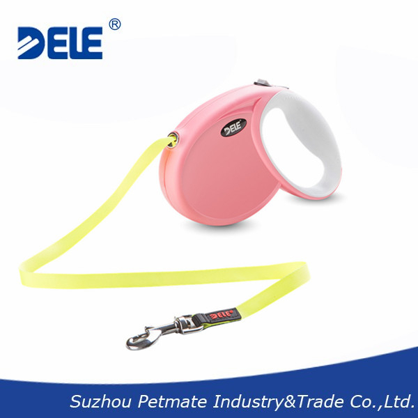 3m/9.8ft small size retractable dog leash with fluorescent tape leash