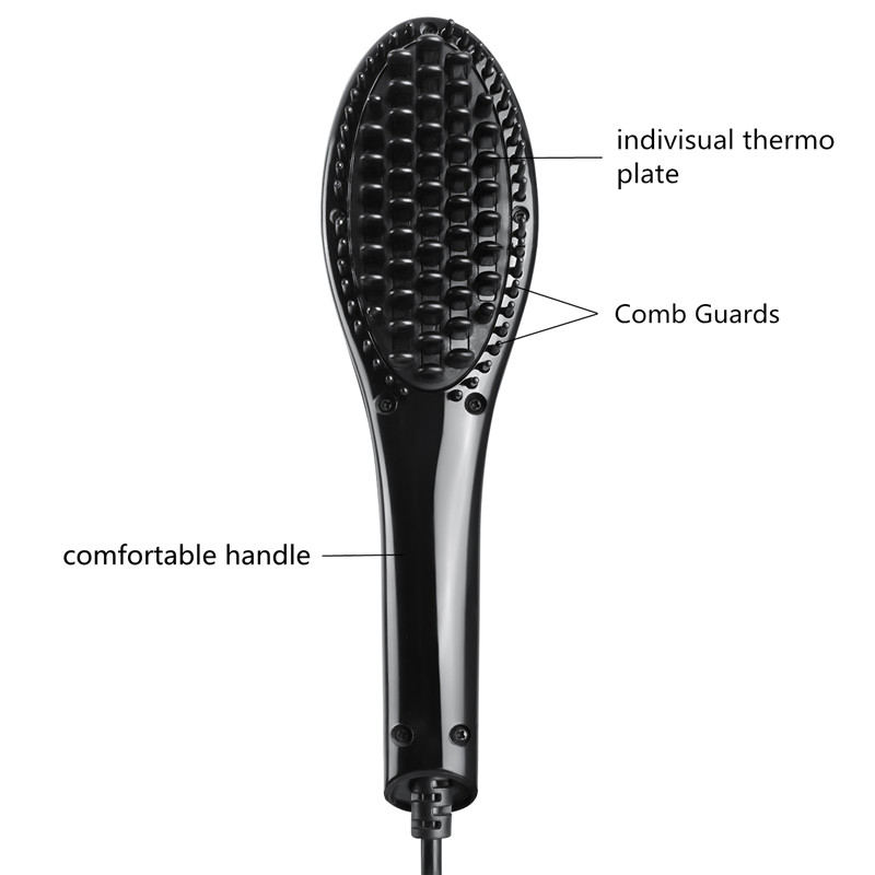 professional ceramic hair brush Portable electric mini hair straightener brush with new design