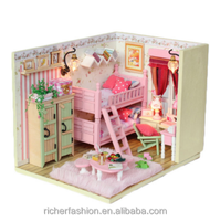 hot selling new design Christmas promotional gifts 2016 wooden doll house