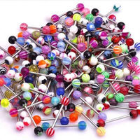 Best selling trendy style tongue barbell tongue rings