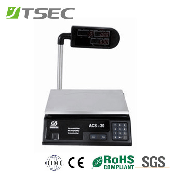 price computing bakery weighing scale 30kg 5g increment. Black Bedroom Furniture Sets. Home Design Ideas