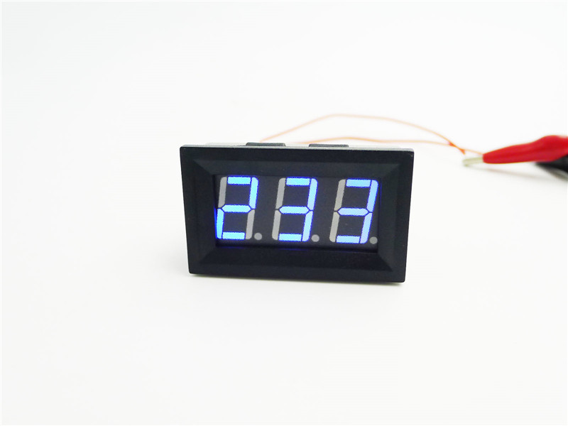 "Digital AC Voltmeter Voltage Volt Panel Meter red AC 30-500V 0.56"" red blue green LED"
