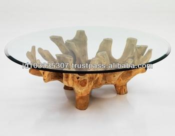 Wurzel Tisch Mit Glasplatte Buy Wurzel Tischteak Wurzelteakholz