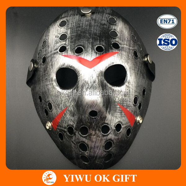 Wholesale Antique silver Jason mask Halloween Masquerade Plastic Party Mask