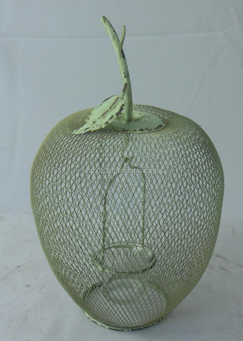 13a278 Wholesale Vintage Handmade Apple Shaped Metal Wire Mesh Tea ...