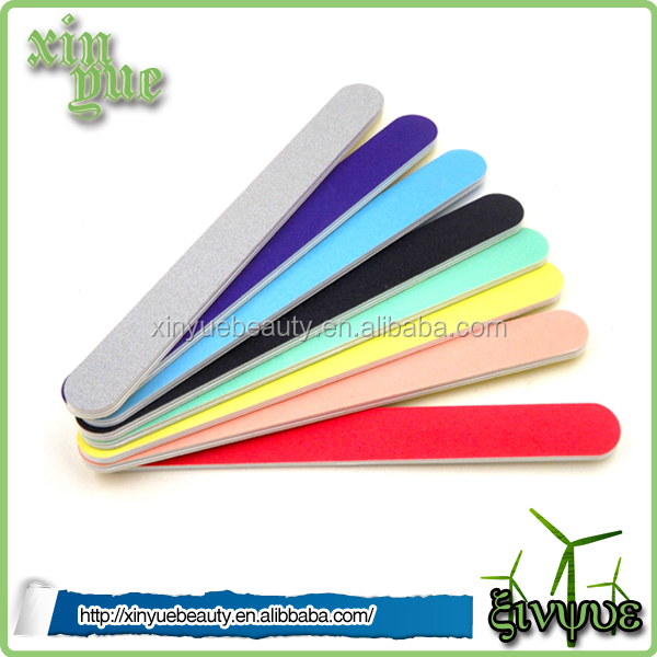 high quality emery two side nail file colorful nail file 100 180 korea nail file wholesale