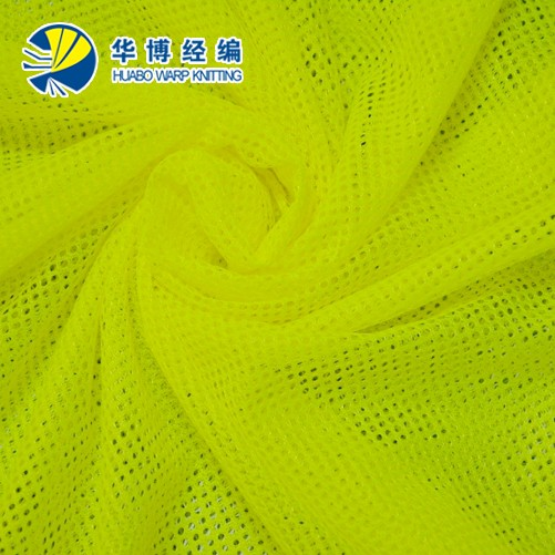 high elastance cross mesh 100% polyester soft stretch fabric supplier