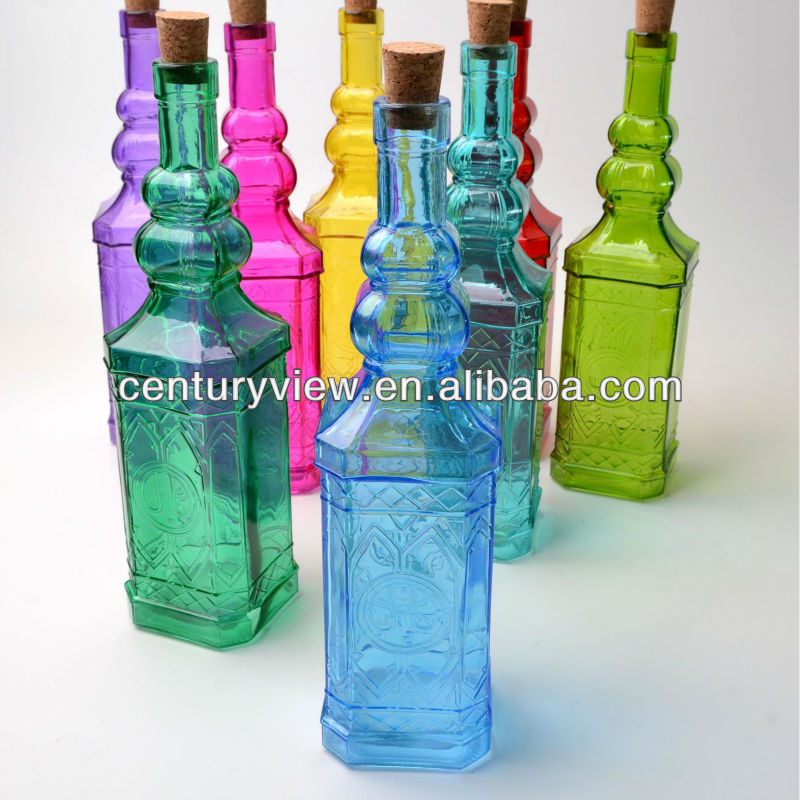 Decorative Colored Wholesale Glass Water Bottles Buy Wholesale