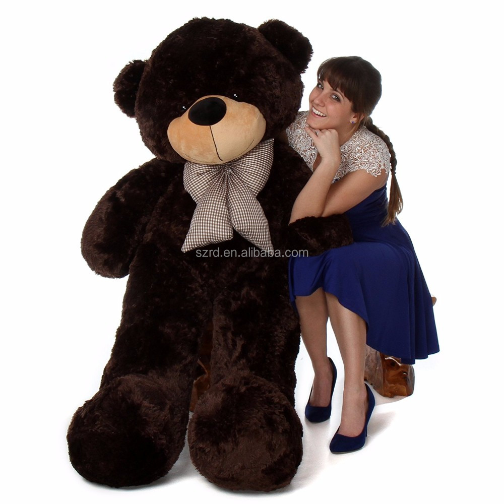 Teddy Bear Rich Dark Brown Color Plush Stuffed Toy Brownie Cuddles/colorful teddy bear/giant plush teddy bear