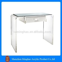 luxury transparent acrylic lucite vanity table, dressing tableac with drawers