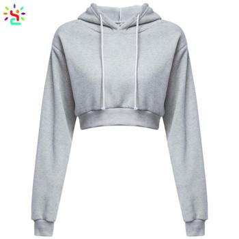 f823ce1d92b4f Wholesale crop top hoodie women teen girls sweatshirt hoodie long sleeve  soft breathable pullover tops