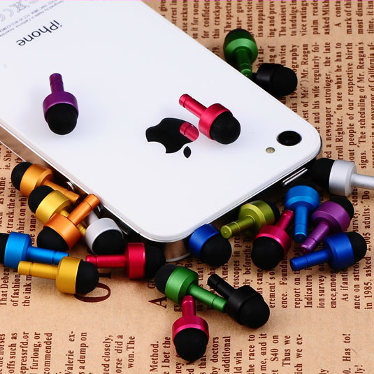 3.5mm Anti Dust Plug Earphone Jack Cap Mini Stylus Screen Pen For Iphne 8 7 6 Plus 5 IPad Mini Ipod New