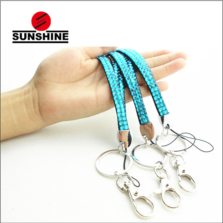 China better new decorative keychain bling jewelry lanyard