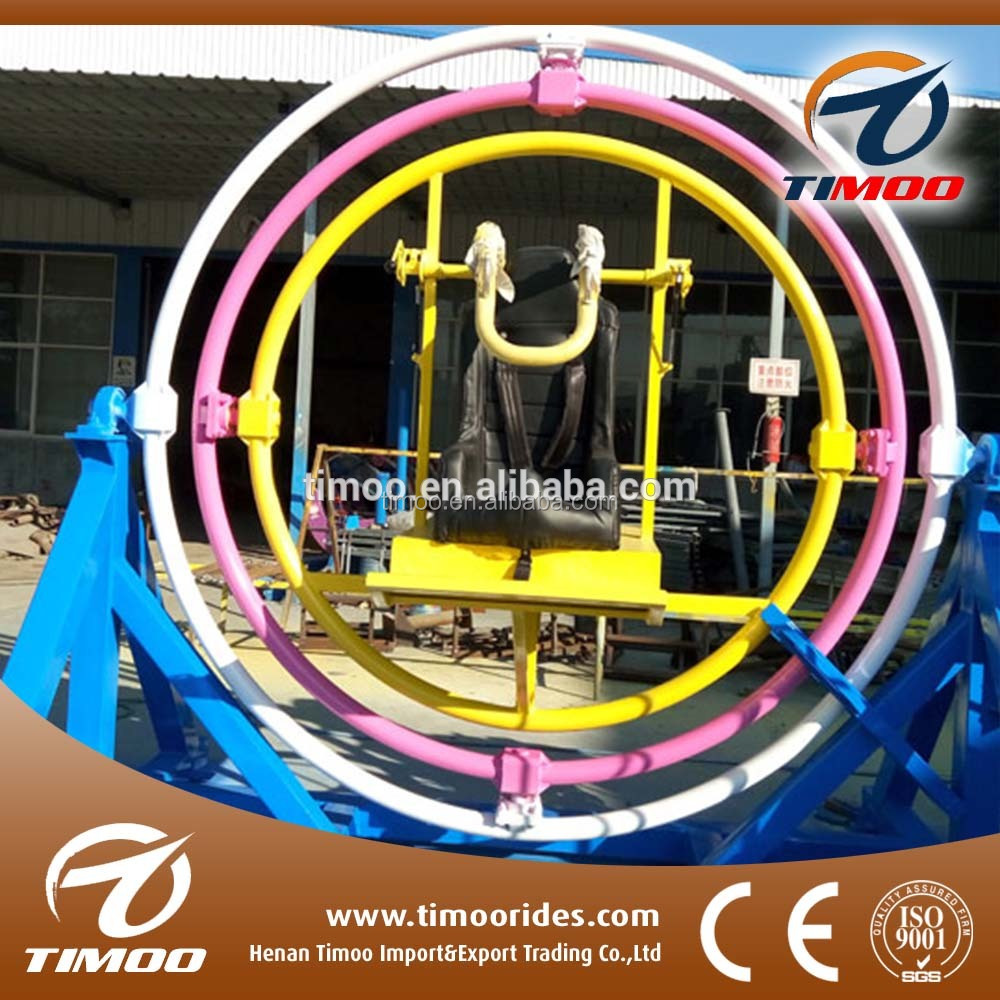 Portable Carnival Rides Trailed Mounted Thrill <strong>Human</strong> Gyroscope For Adults For Sale